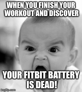 fitbit battery dead