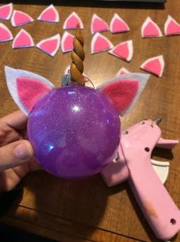 Unicorn Ornament - ears add